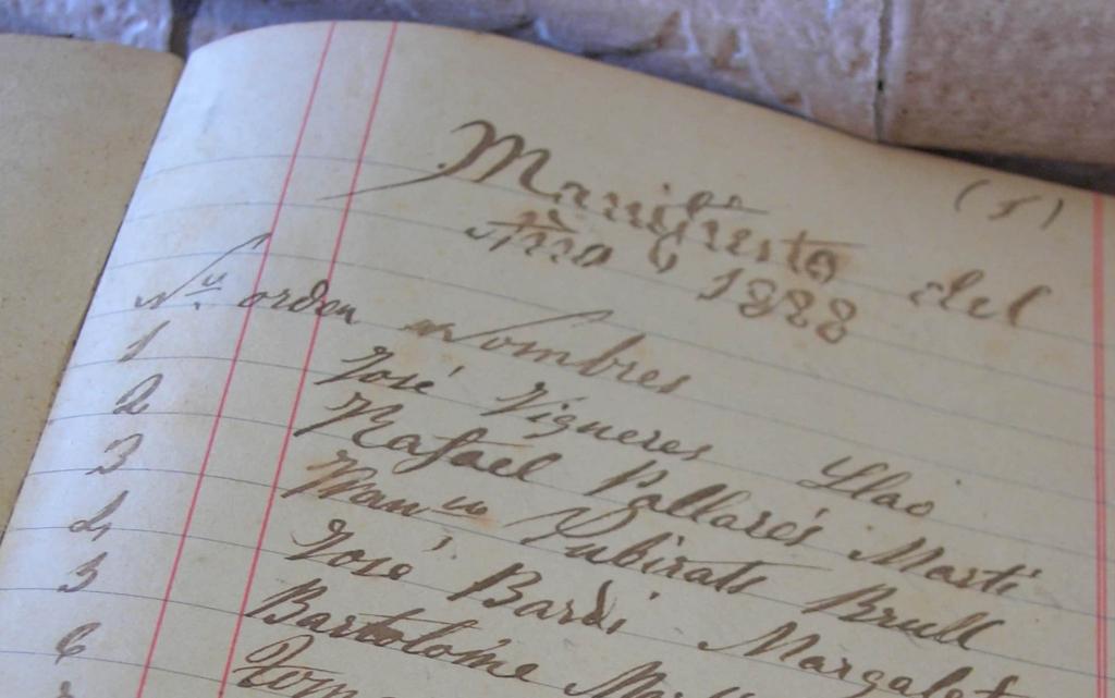 Manifiesto de colmenas año 1888