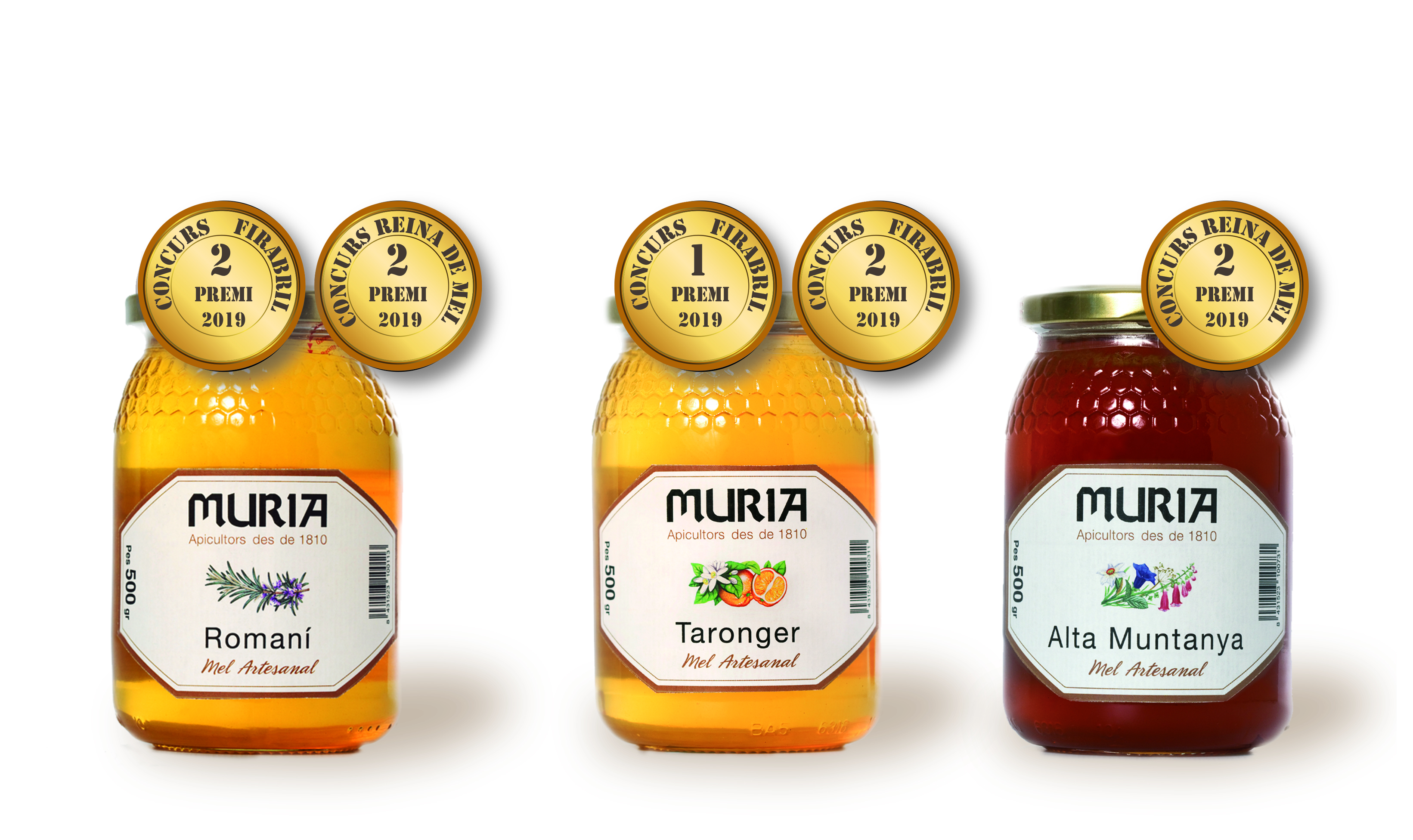 The contest 'Queen of honeys' at Fira Q Balaguer awards two varieties of Muria Honey