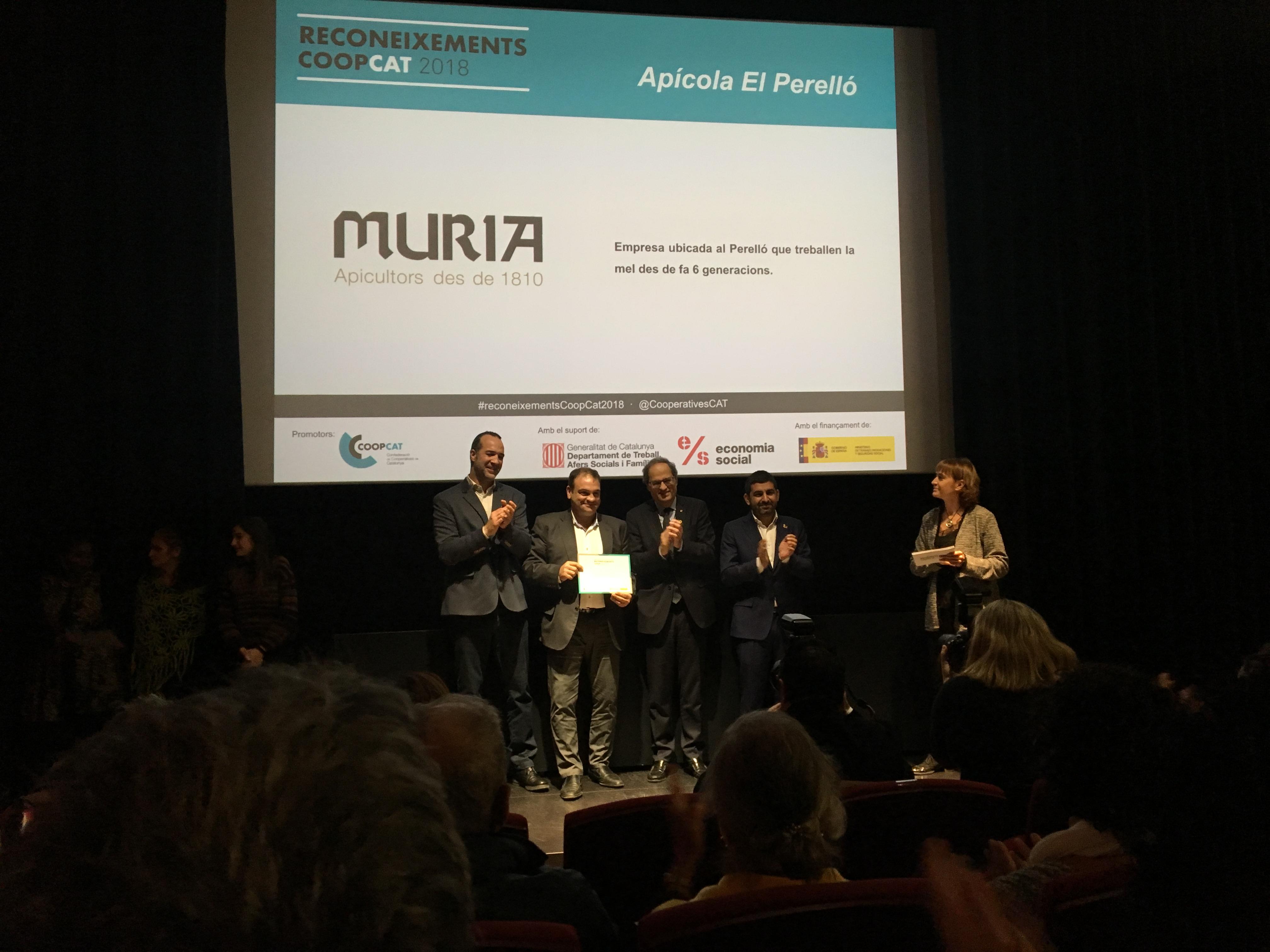 Miel Muria, galardonada por la Confederación de Cooperativas de Cataluña
