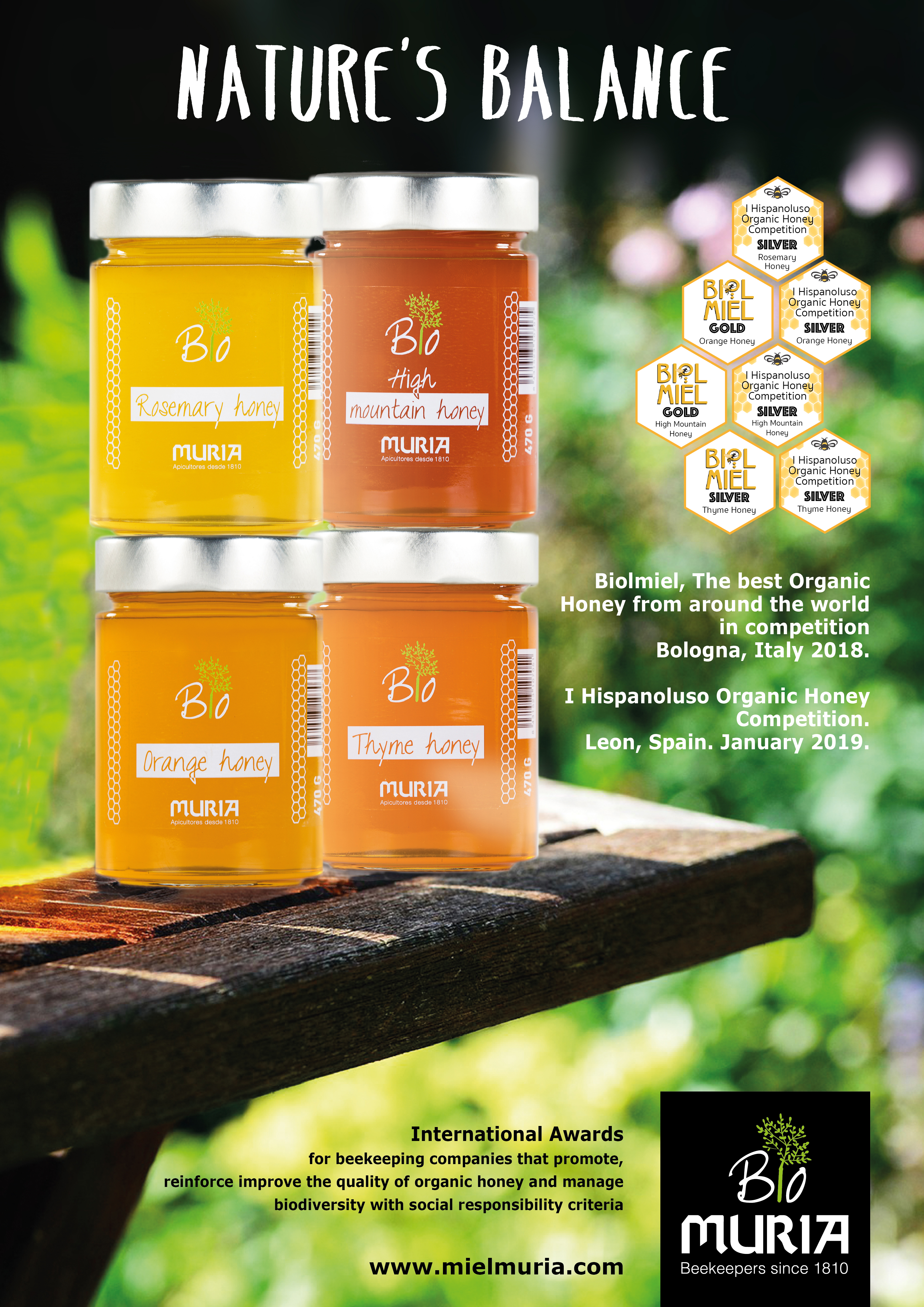 Two new international awards for Muria Bio's collection of Organic Honey