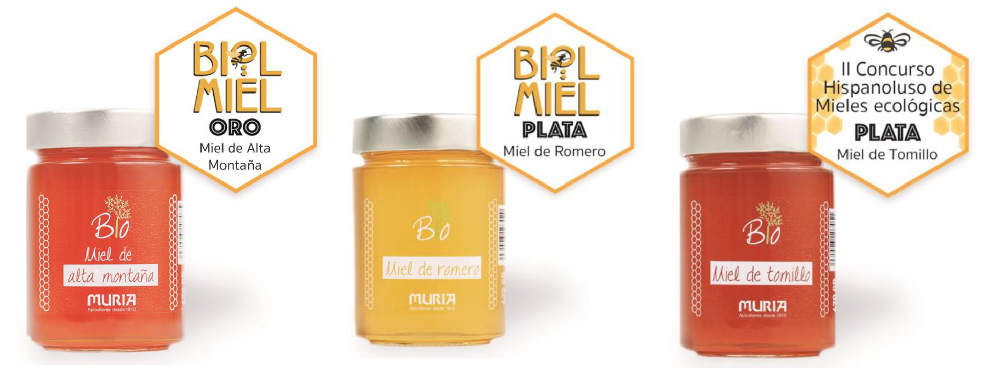 La gama de miel ecológica Muria BIO consigue tres nuevos galardones internacionales