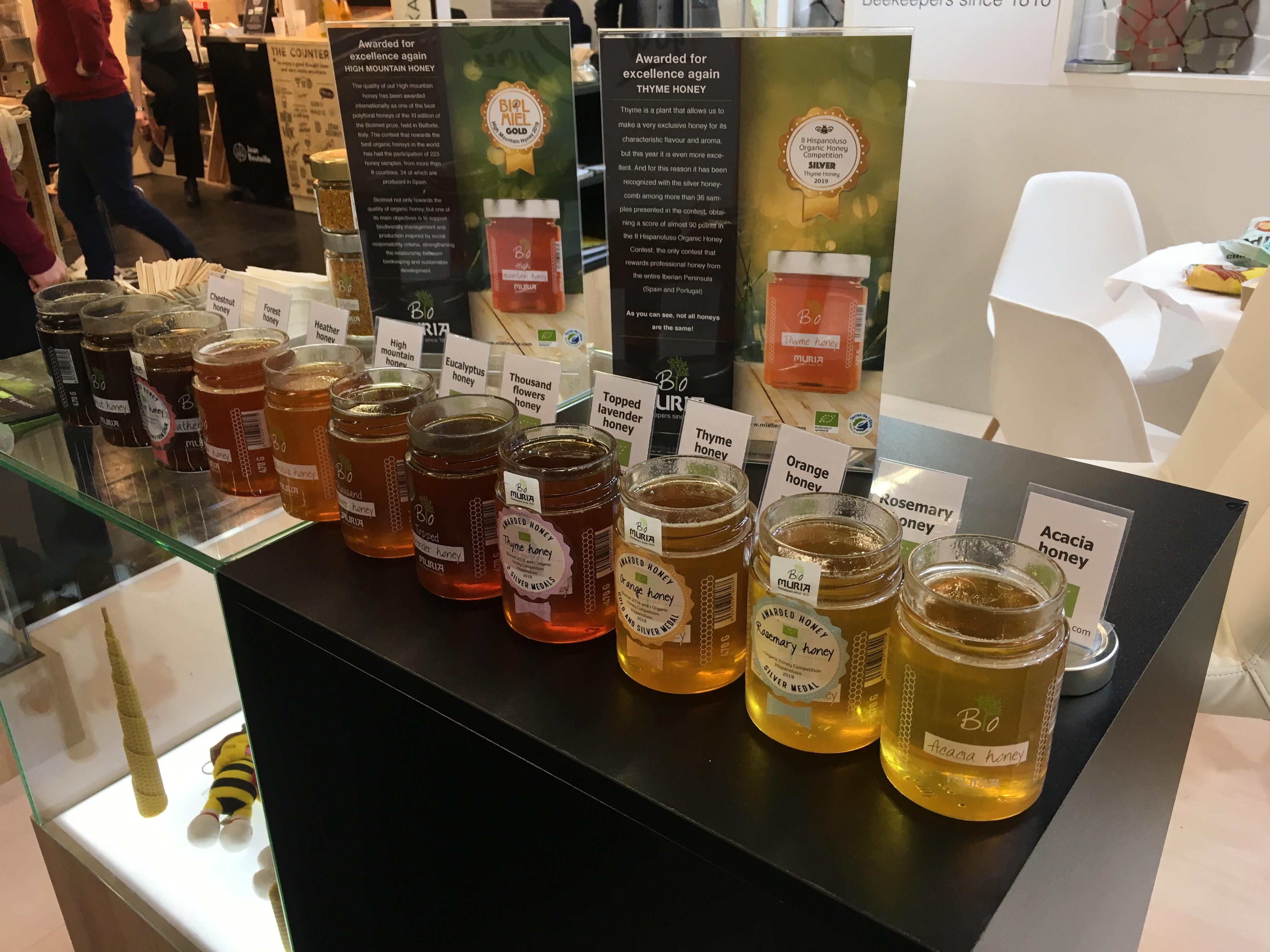 Gran éxito de las variedades de miel ecológica Muria BIO en la edición 2020 de Biofach